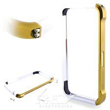 Bumper Aluminio Vapor 4 compatible con IPHONE 4 4S Carcasa DORADA-PLATA Case i07