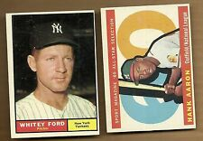 1961 TOPPS  WHITEY FORD # 160    EX MINT  YANKEES