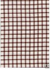 """Brown Plaid Fabric 1"""" by RJR  bty REDUCED PRICE"""