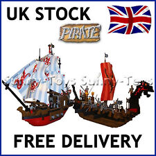 X2 GIANT PIRATE SHIPS BOATS CARIBBEAN AMBUSH BUILDING BRICK EDUCATION COMPATIBLE