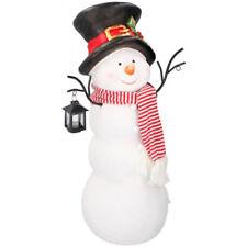 Pupazzo di neve in Poliresina Altezza 65cm con Lanterna 4 LED Decorazione Natale
