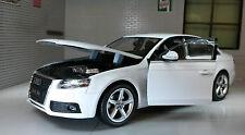 G LGB 1:24 Scale 2009 Audi A4 TFSI Detailed Welly Diecast Model Car 22512 White