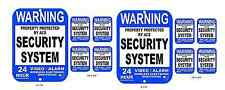 2 Aluminum Yard Signs & 8 Vinyl Window Security Decals Video Surveillance Alarm