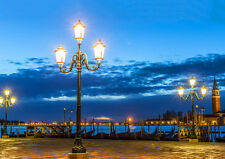 ROMANTIC NIGHT IN VENICE NEW A1 CANVAS GICLEE ART PRINT POSTER FRAMED
