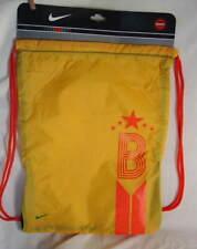 NIKE Yellow Nylon Drawstring Sports Bag Gym Sack Backpack NEW NWT