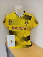 BVB Trikot 17/18 Teamsigniert Borussia Dortmund Autogramm Unterschrift Puma 42