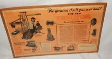 Huge Erector Set Advertisement from 1924 20.5 x 13.25