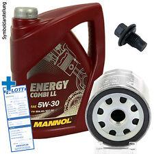 Ölwechsel Set 5 Liter 5W-30 Öl + Ölfilter + Ablassschraube