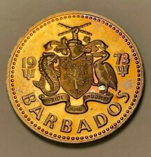 1973 BARBADOS 2 DOLLARS BU UNC TONED COLOR HI LUSTER!!!!!