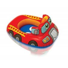 POOL FIRE TRUCK BABY FLOATIE KIDS INFLATABLE TOY SWIMMING NEW intex leg holes