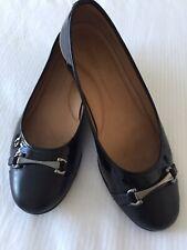Jones / Twenty -Four-Seven Black Patent Leather Flats Ballerina size UK 7 / 40.5