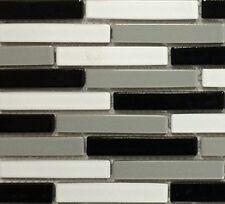 "Fujiwa Porcelain Swimming Pool Waterline Tile-VIP-703 GRAY 3/"" X 3/"" 1.08 SQ PAC2"