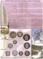 Sri Lanka _ set 10 coins 1 2 5 10 25 50 Cents + 1 2 5 10 Rupee 1978 - 2004 UNC