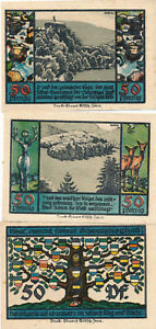 Notgeldscheine der Stadt Schwarzburg  1922