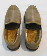 Redhead Mens Tan Suede Leather Slip on Loafers, Size 8M