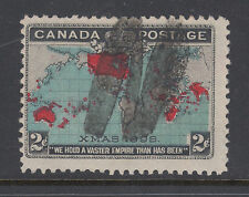 "Canada Sc 86 used 1898 2c Map, ""N"" Fancy Cancel of Newcastle, NB, F-VF"