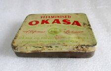 Vintage Old Rare Vitaminised OKASA Hormo Pharma Ltd.Ad Tin Sign Box London