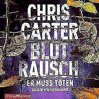 Carter Chris Blutrausch Er muss töten MP3 HörBuch NEU Robert Hunter Uve Teschner
