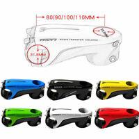 TOSEEK Carbon Fiber Bicycle Stem ±10° Road Bike MTB Handlebar Stem 31.8*80-110mm