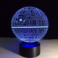 New Death Star (Star Wars) 3D LED Night Light -Lamp Touch Switch Table Desk Lamp