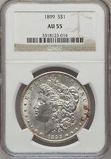 1899 Morgan Silver Dollar ($1) NGC AU55, Scarce Date, Nice Luster, VAM-2.
