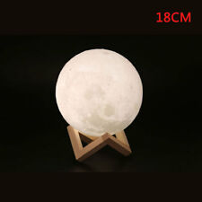 Dimmable 3d Magical Moon Lamp USB LED Night Light Moonlight Gift Touch Sensor 18cm