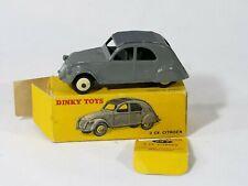 Dinky Toys F n° 24T Citroën 2CV modèle à un feu en boite