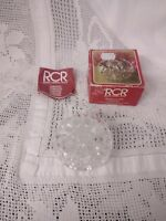 Cut Glass Crystal Pot With Lid (Royal Crystal Rock) In Original Box