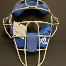 Adidas Pro Issue Baseball Catchers Umpires Mask Blue/Silver S13292 Nwt