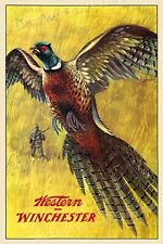 1955 Winchester Vintage Style Pheasant Hunting Poster - 20x30