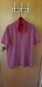 Nautica Slim Fit Vintage Mens Polo Shirt Medium