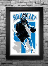 DIRK NOWITZKI art print/poster DALLAS MAVERICKS FREE S&H! JERSEY