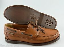 R - Men's MEPHISTO 'Boating' Brown Leather Oxfords Size US 9 EUR 8.5