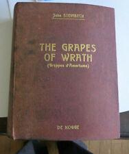 JOHN STEINBECK THE GRAPES OF WRATH GRAPPES D'AMERTUME DE KOGGE 1942 1/275 CARTEX