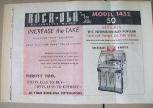 Rock-ola model 1452 phonograph 1956 Ad- increase the take