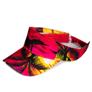 Hawaiian Hat Sun Visor Cap Adjustable Tropical Floral Sport Golf Beach Men Women