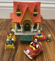 Disney Mickey Mouse Toontown House Micro Figurine Playset Plastic House Rare HTF