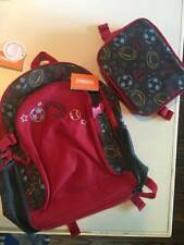 NWT Gymboree Boys Sports Themed Backpack Lunchbox Set Red Gray
