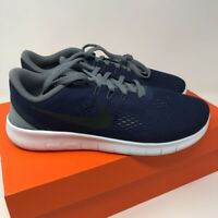 Nike Kids Free RN Sneakers Navy Blue Black Athletic Shoes Youth 7Y