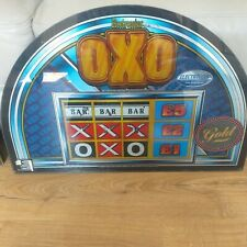 More details for electrocoins oxo gold fruit slot machine glass screen art man cave retro