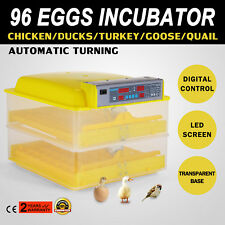 Automatic 96 Egg Incubator Digital Temp Control Poultry Hatcher Auto Egg Turner