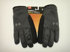 Under Armour Mens Elements Coldgear Reactor Fleece Gloves Speedwipe Black XL