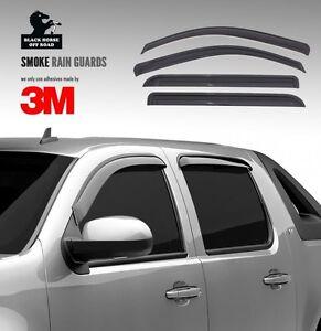 Black Horse FITS 02-08 Ram 1500/03-09 Ram25/3500 Quad Cab Rain Guards Sun Shade