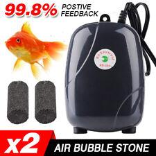 2Pcs Air Bubble Disk Stone Aerator Aquarium Fish Tank Pond Oxygen Pump HOT EA