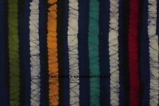 4.6m Batik a Righe Materiale Forniture Cotone Tessuto Abbigliamento Cucito Hobby