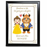 Beauty and the Beast Personalised Anniversary Gift Wedding Fairytale Disney