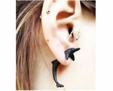 3D DOLPHIN earrings punk retro goth DOLPHIN jewellery DOLPHIN 2 WAY earrings