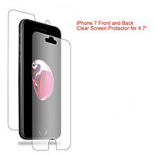 """Front and Back LCD Screen Protector Guard for Apple iPhone 7 for 4.7"""" Screen"""