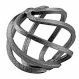10x Wrought Iron Round Basket - Height 50 x Length 50mm Smooth - 4mm Square Bar
