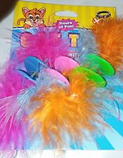 VOTOYS XPET THICK SPIRALS WITH FEATHERS 3 PACK CAT TOY. FREE SHIPPING TO THE USA